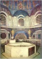 Cuve du baptistère de Ravenne