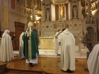 L'eucharistie présidée par Mgr Christian Lépine