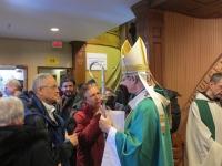 Salutations a l'issue de la messe