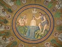 Baptistère des Ariens à Ravenne - Masaïque du baptême du Christ